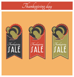 Thanksgiving sale banner vector image