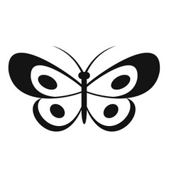 tropical butterfly icon simple style vector image