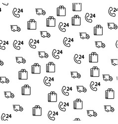 truck delivery logistic for store seamless pattern vector image