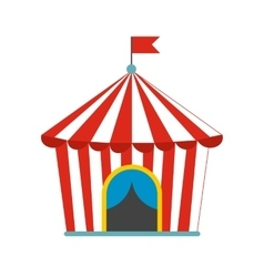 Vintage circus tent flat icon vector