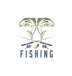 vintage fishing design template vector image