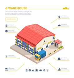 Warehouse Building Isometric vector