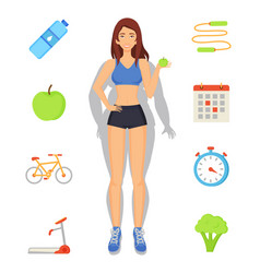 Weight loss and sport diet vector