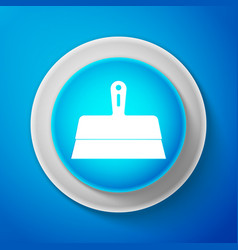 White putty knife icon isolated on blue background vector