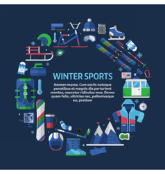 Winter Sports Card Template vector