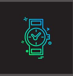 wrist watch icon design vector image