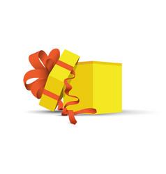yellow opened present vector image