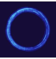 Abstraction digital circles light vector image vector image