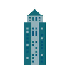 building urban skyscraper icon vector image