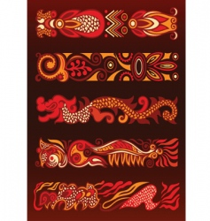 ethnic design banners vector image vector image