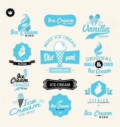 ice cream shop logo vector image vector image