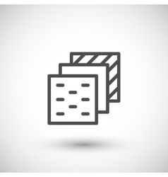 Insulation layers line icon vector