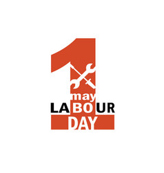 labour day 1st may logo vector image