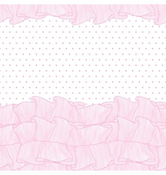 Lace frills seamless pattern vector image