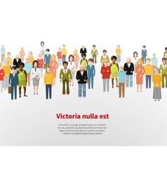 Large group of cartoon people background vector image vector image
