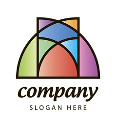 Stained glass logo vector