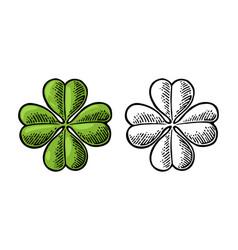 good luck four leaf clover vintage vector image
