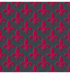 Red fleur de lis seamless background vector image vector image