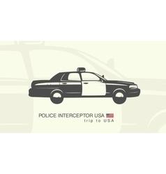 a car police interceptor vector image