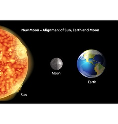 Alignment of Sun Earth and Moon vector image vector image