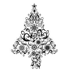 black decor xmas tree vector image vector image