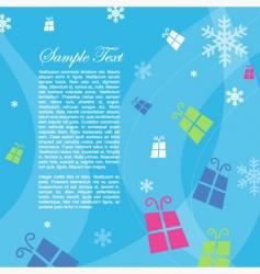 Christmas giftwrap design vector image