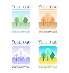 floral logos set vector image vector image