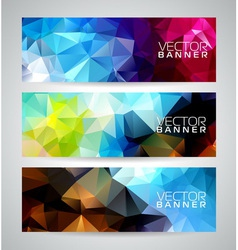 Geometric triangles banner background vector image vector image