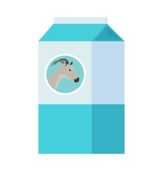 Goat Milk in Carton Paper Box Isolated on White vector image