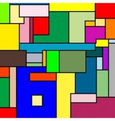 mondrian texture vector image vector image
