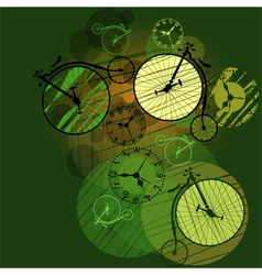 time travel vector image