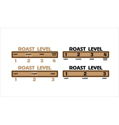 level of coffee vector image