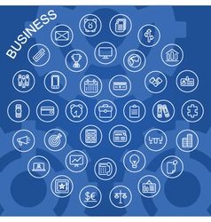 Line icons business vector