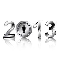 security concept 2013 new year vector image vector image