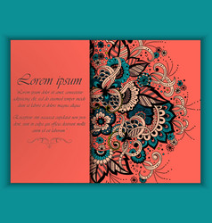 wedding invitation card with vector image vector image