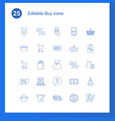25 buy icons vector