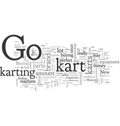 A new or pre owned go kart vector