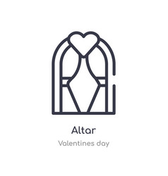 Altar outline icon isolated line from valentines vector