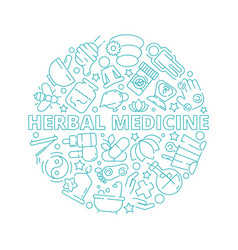 alternative medicine concept herbal natural vector image