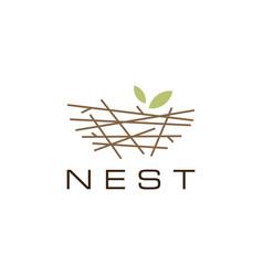 bird nest logo icon vector image