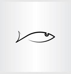 black fish icon symbol element vector image