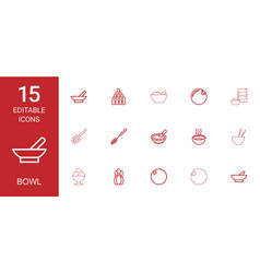 bowl icons vector image