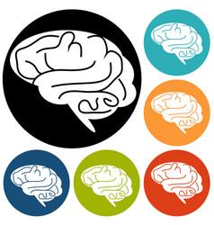 Brain icon vector