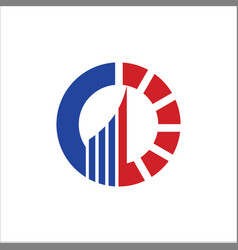 Business finance circle company logo vector