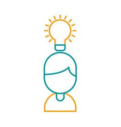 businessman avatar with bulb vector image