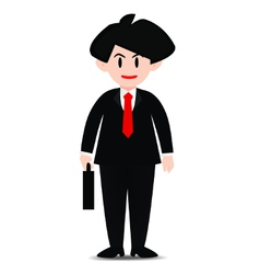 businessman holding a bag to work vector image