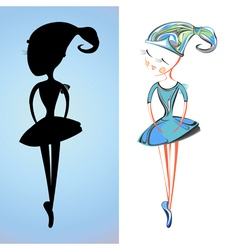 Cartoon ballerina vector