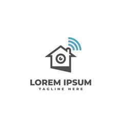 cctv home signal logo vector image