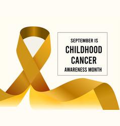childhood cancer awareness month vector image