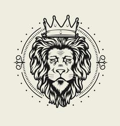 coat arms lion crest design vector image